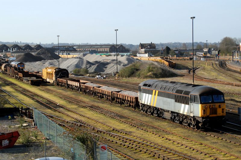 56301 in Totton Yard on Railvac duties ( photographer unknown)