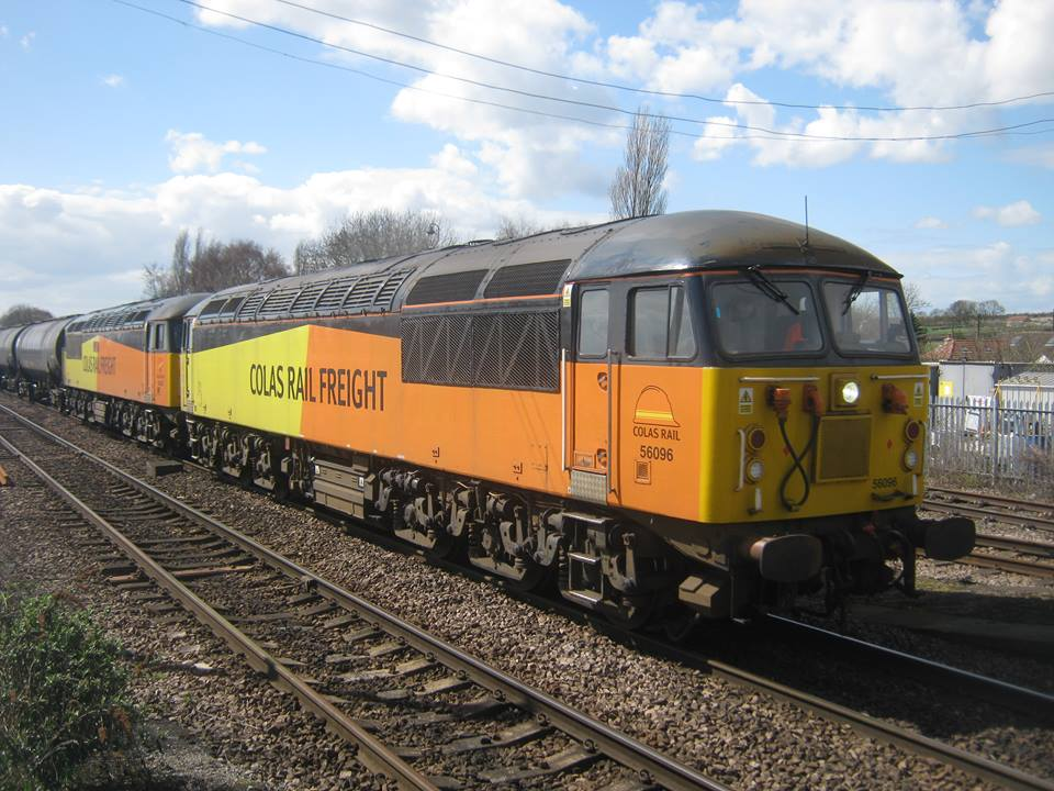 56096 & 56302 passing Barnetby on 16th April 2018, working the 6E32 0910 Preston Docks (Ribble Rail) - Lindsey Oil Refinery. Photo copyright: Paul Phillips.