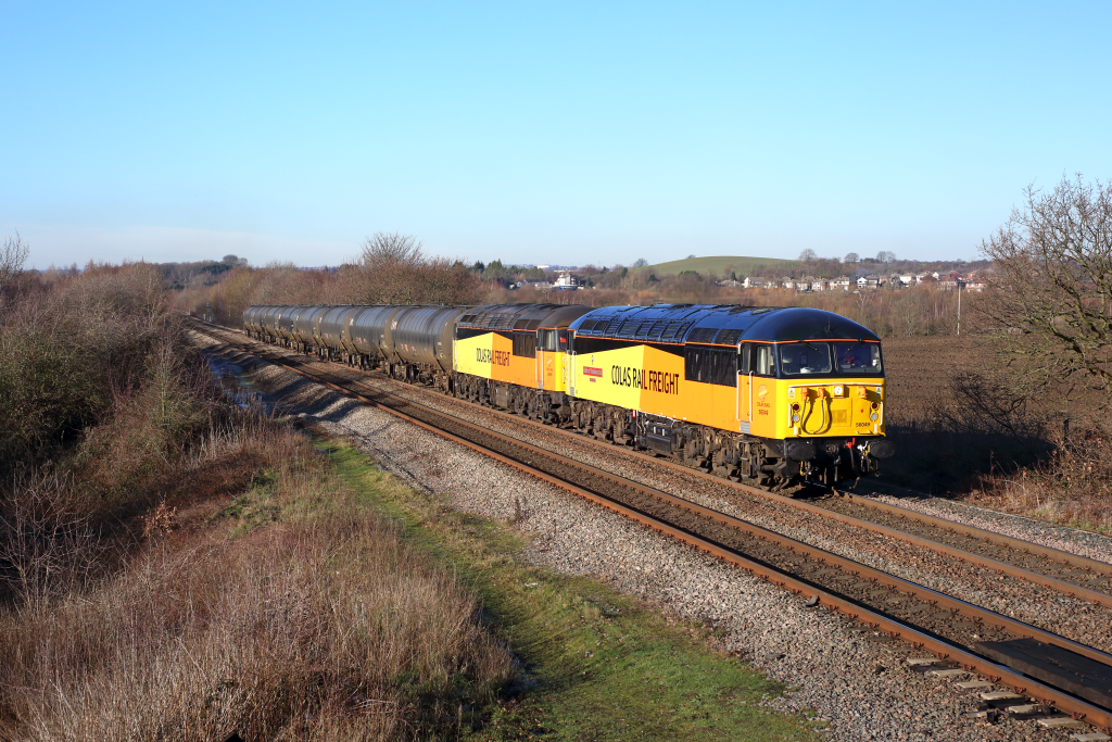 56049 'Robin of Templecombe 1938 - 2013' & 56090, Crofton, 23/01/19. Photo copyright: Ben Wheeler